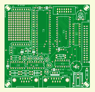 89S8252 Flash Microcontroller Board (010208-1)