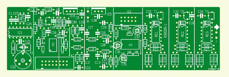 HF-Mess-Sender. Platine Signalgenerator