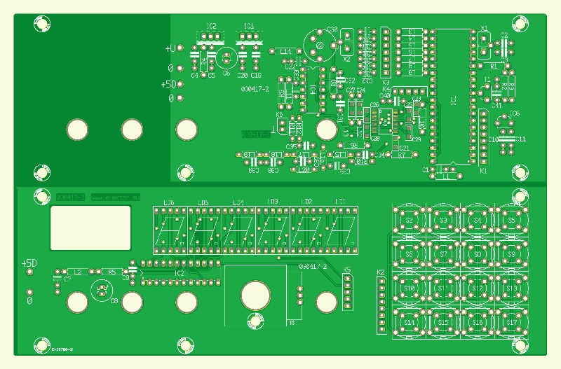Kurzwellenempfänger mit DDS. Controller- und Display-Platine