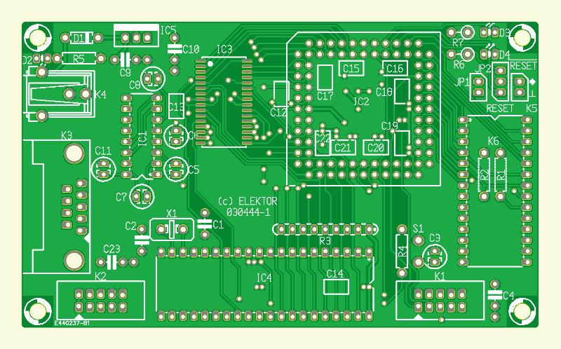 27C512-Entwurf. Emulator mit Perspektive