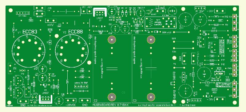 Mugen - Hybrid-Audioverstärker - Verstärkerplatine