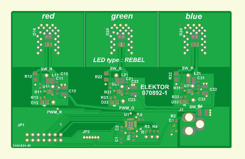 RGB-LED-Stimmungslicht Platine 1