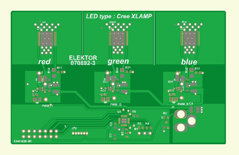 RGB-LED-Stimmungslicht Platine 3