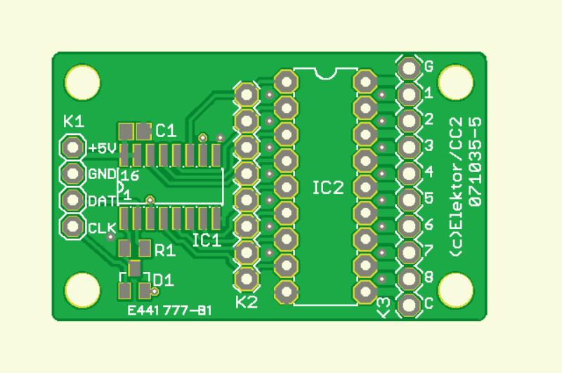 CC2-AVR-Projekt: Relaisplatine und Portexpander (Platine Port-Erweiterung)