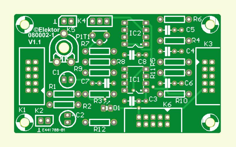 Experimente mit der Elektor USB-DAQ-Karte (Platine )