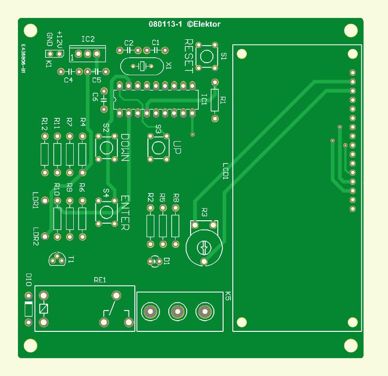 Licht-Steuerung mit Flowcode (Platine)