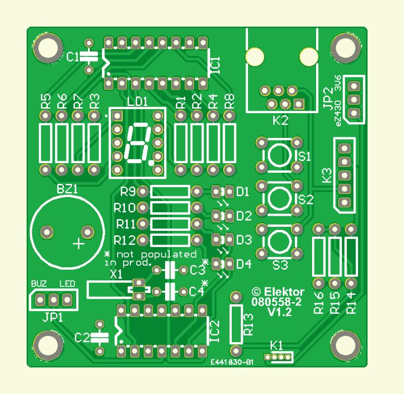Experimentieren mit MSP430  (Platine )