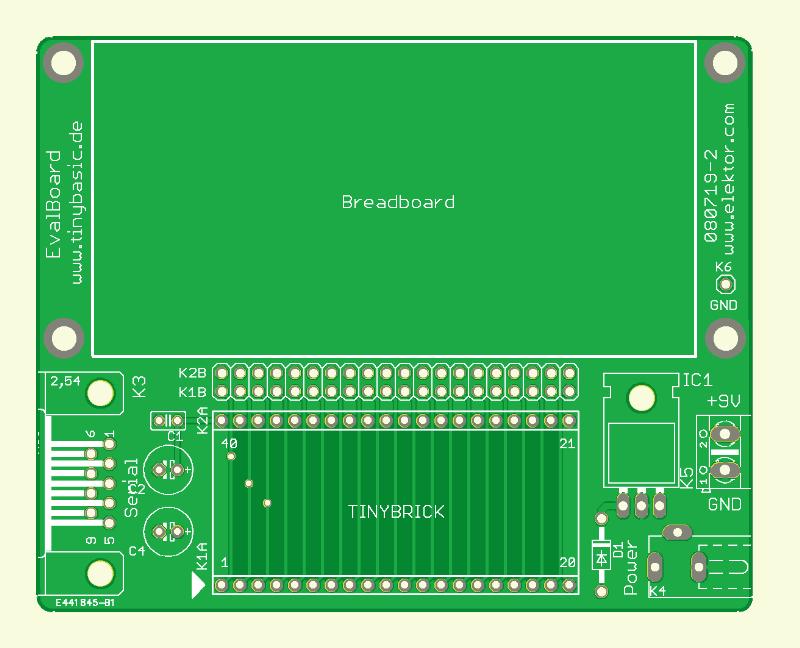 Prozessor-Ziegel (M16C mit BASIC) (Platine (EvalBoard))