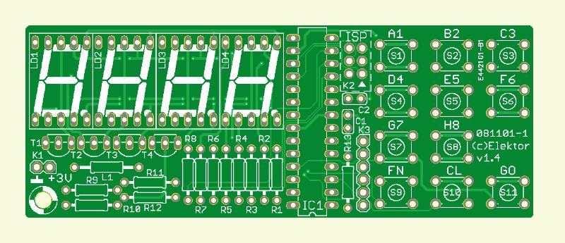 AVR-Max-Schachcomputer (Platine )