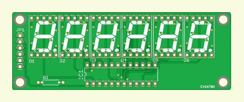6-stelliges Display mit SPI-Interface (Platine )