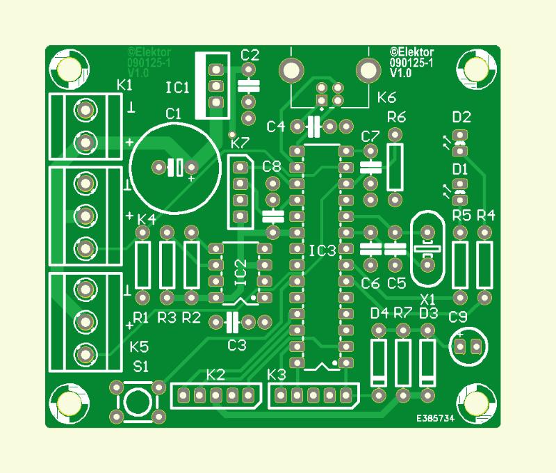 Farbgesteuerte Lichterkette (Platine master module)