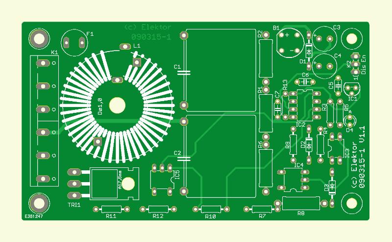 Mikrocontrollergesteuerter Dimmer (Platine )