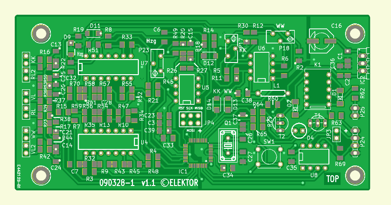 Heating System Monitor PCB