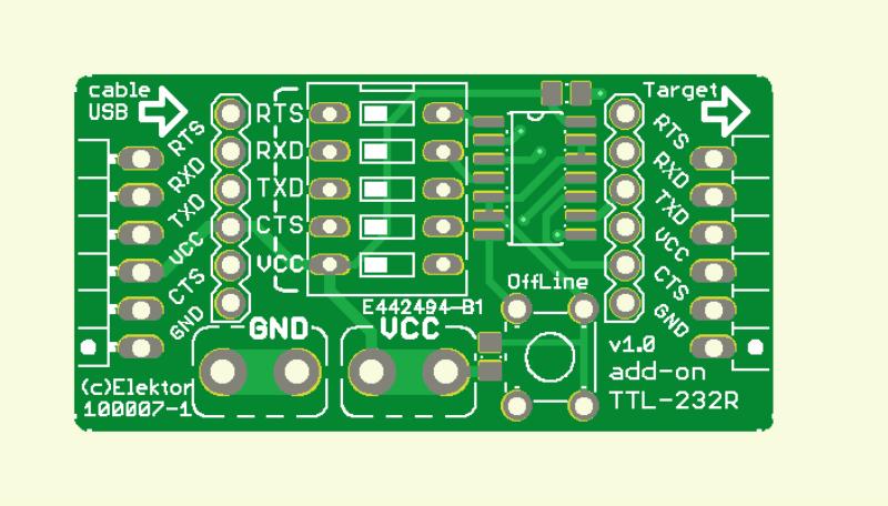 Erweiterung und Zusatzfunktion für USB-TTL-Kabel (Platine  Deluxe )