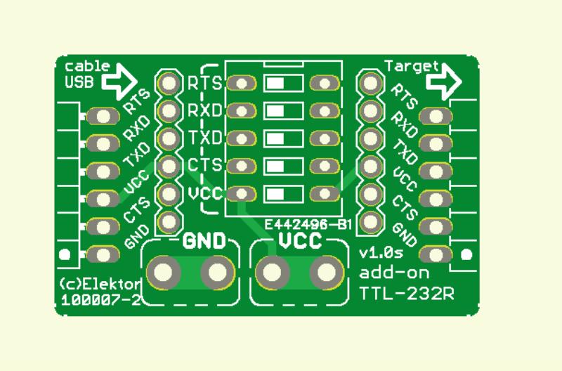 Erweiterung und Zusatzfunktion für USB-TTL-Kabel (Platine  Einfach )
