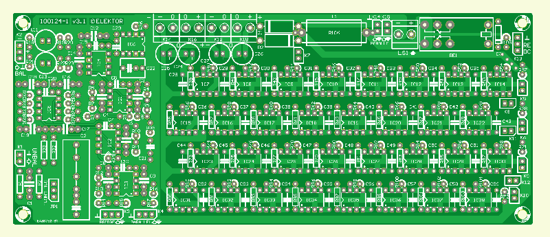 Der 5532-Power-OpAmplifier (2) - Platine Verstärker (ein Kanal)