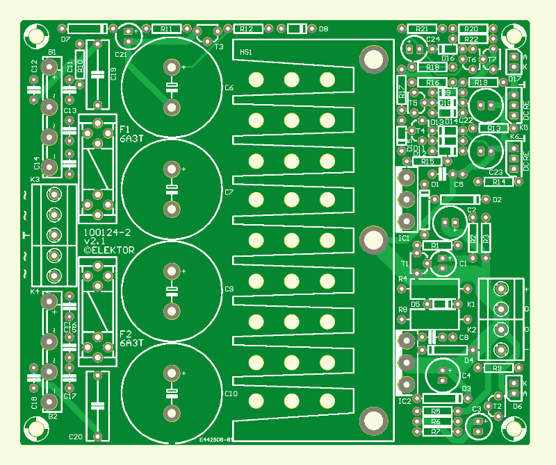 Der 5532-Power-OpAmplifier (2) (Platine Stromversorgung)