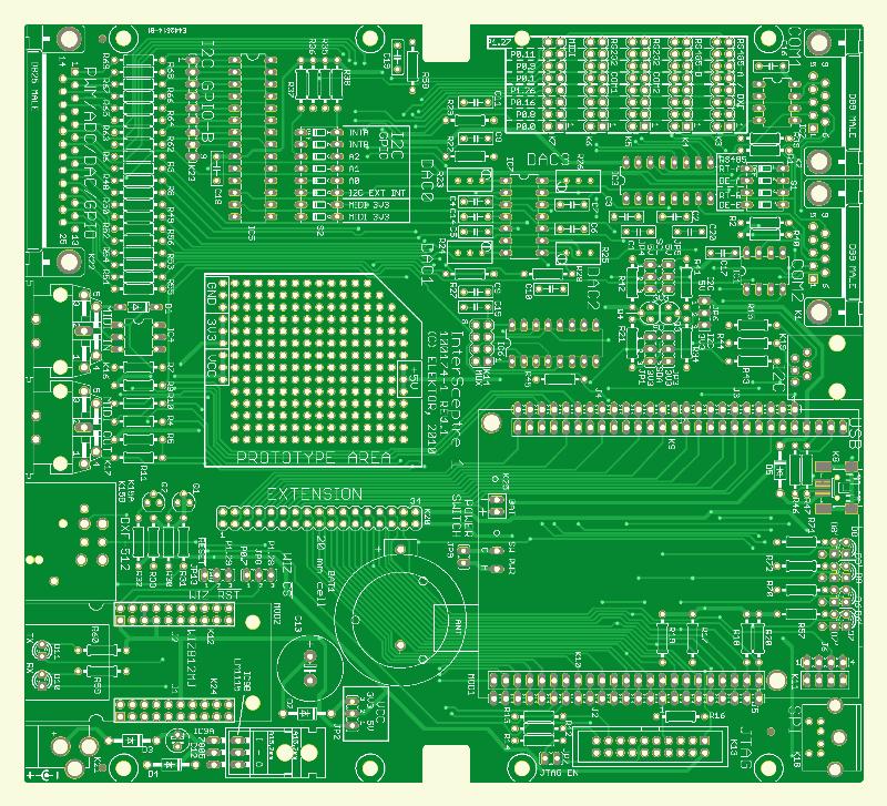 Duales U/I-Display für UniLab-Netzteil (Platine )