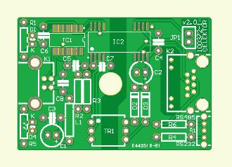 USB-Seriell-Konverter nach RS232 und RS485 (Platine)
