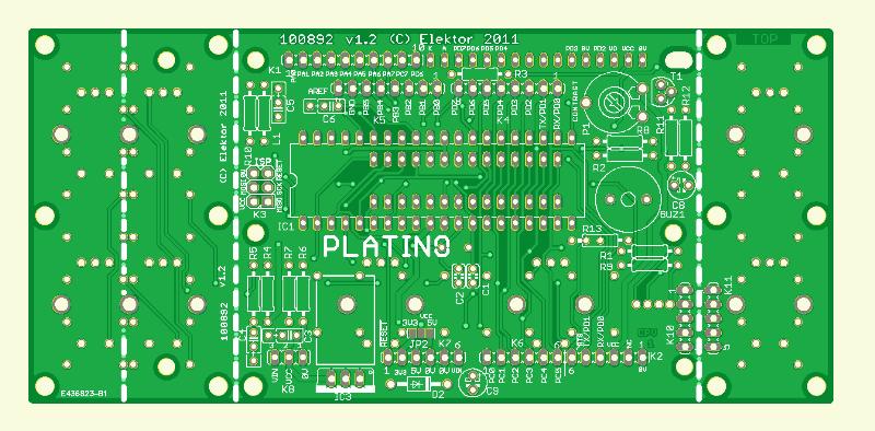 AVR-Platine (Platino | alte Version)