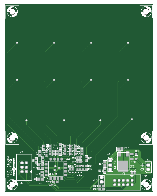 Multi Purpose 12-Way Capacitive Keypad (Gerber 130105-1)