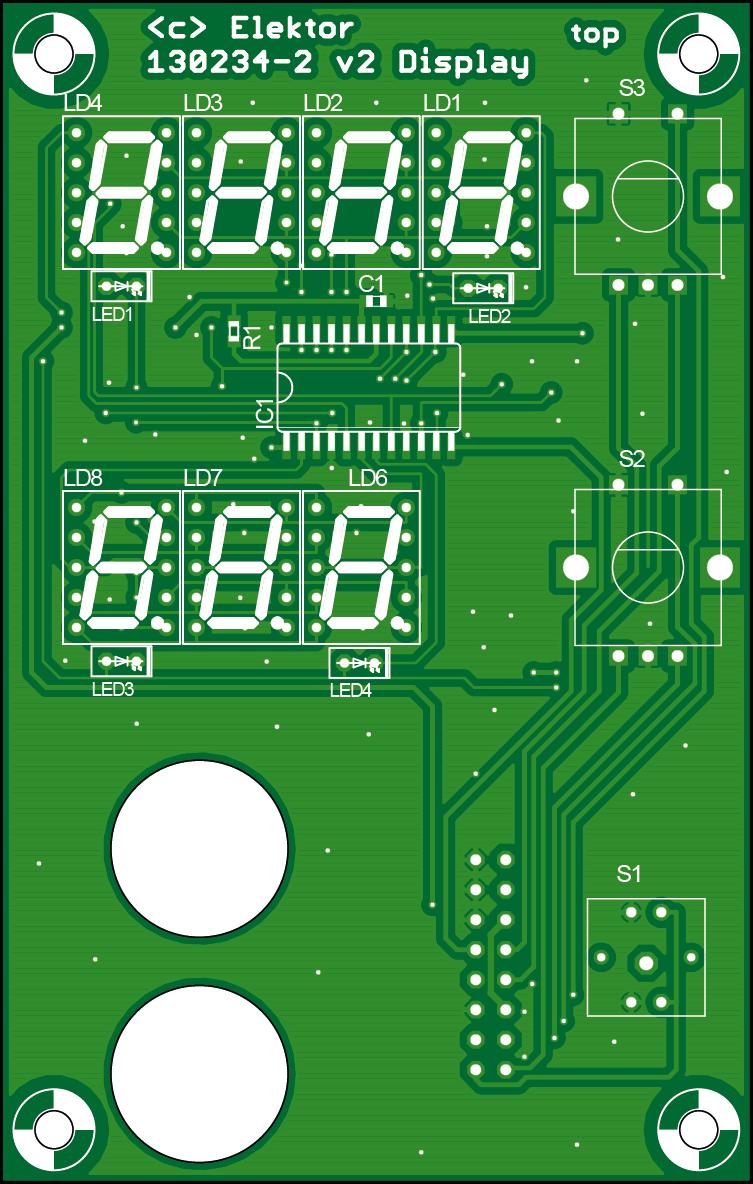 Professionelles Labornetzteil (Displayplatine | 130234-2)