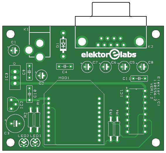 Elektor ZigTexter (Sender-Platine | 130556-2)