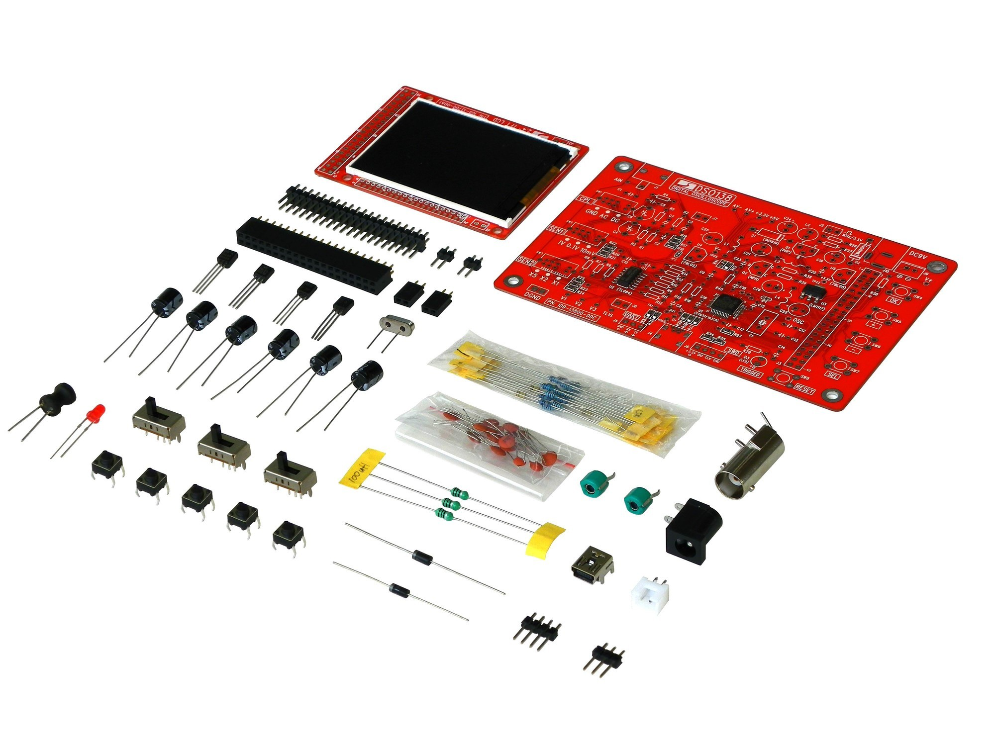 JYE Tech DSO138 Oscilloscope DIY Kit