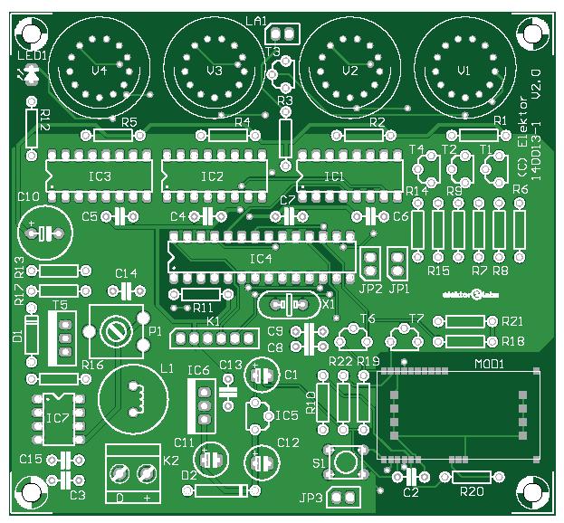 Nixie-Uhr mit GPS (140013-1)