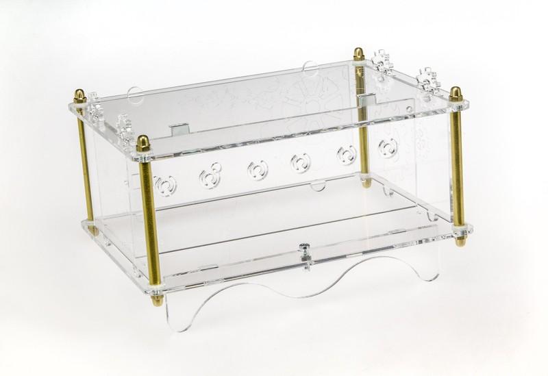 Acrylglas-Gehäuse für 6-Ziffern Nixie-Uhr (150189-72)