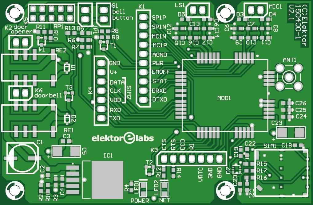 Door SPi  bare PCB (150400-1)