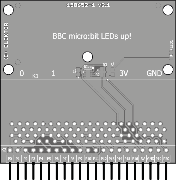 BBC micro:bit weather station - bare PCB (150652-1)