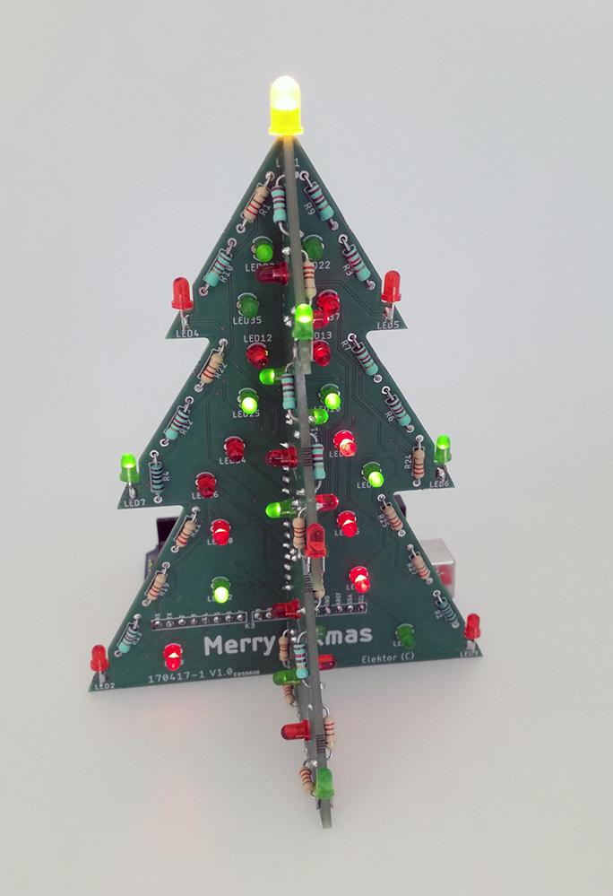 Blinkender Arduino-Weihnachtsbaum (Bausatz)