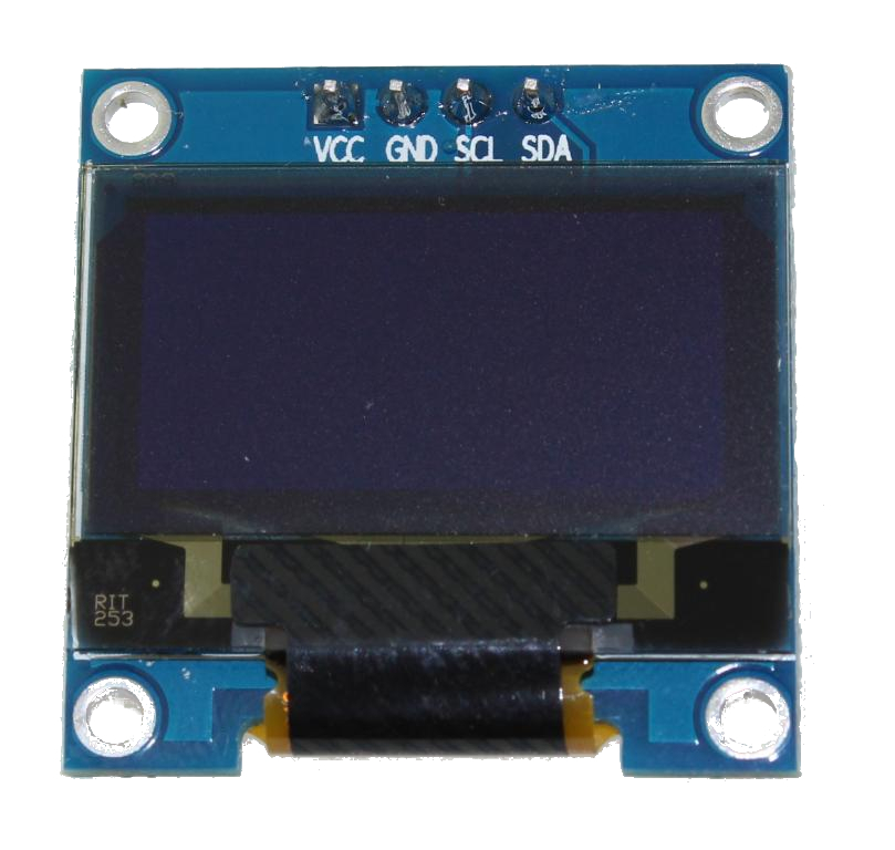 "Blue 0.96"" OLED display I²C 4-pin"