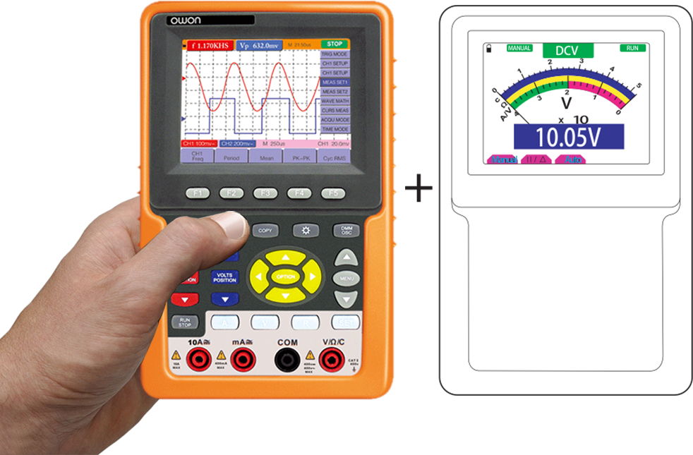 OWON HDS1022M-N 2-ch Oscilloscope + Multimeter (20 Mhz)