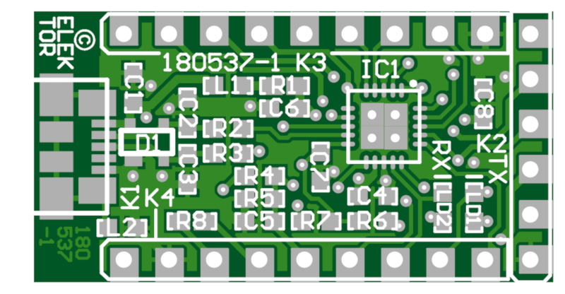 USB-RS232 converter (FT231X BoB) - Bare PCB (180537-1)