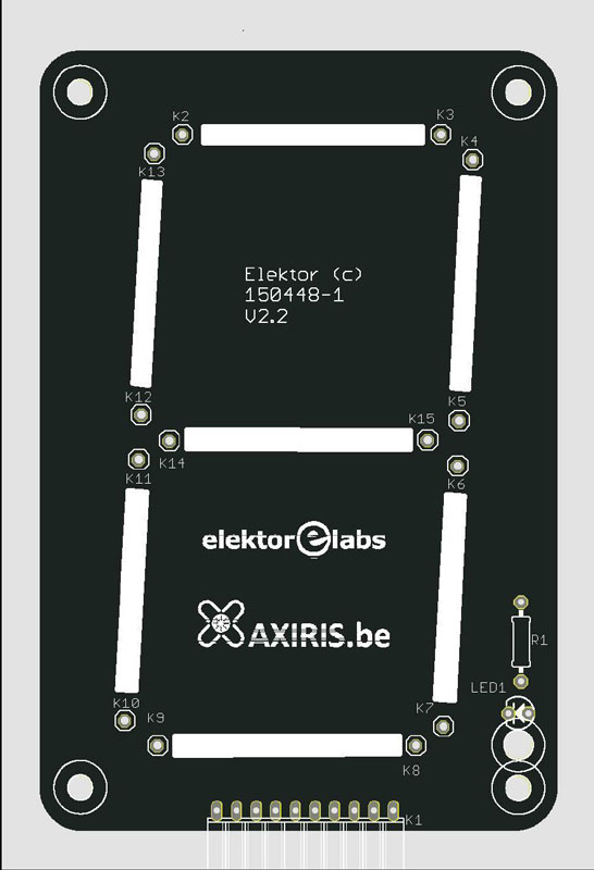 Leiterplatte für 7-Segment-Display - Leditron (150448-1)