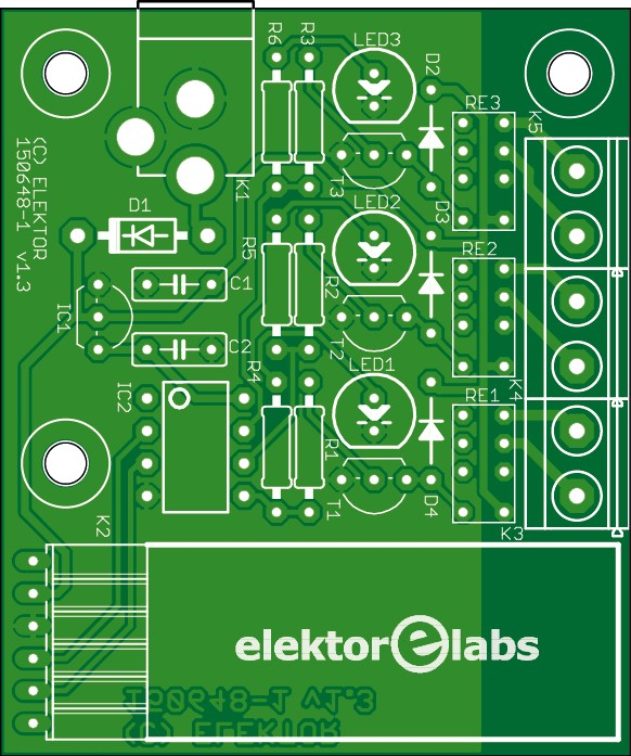 Bluetooth relay - bare PCB (150648-1)