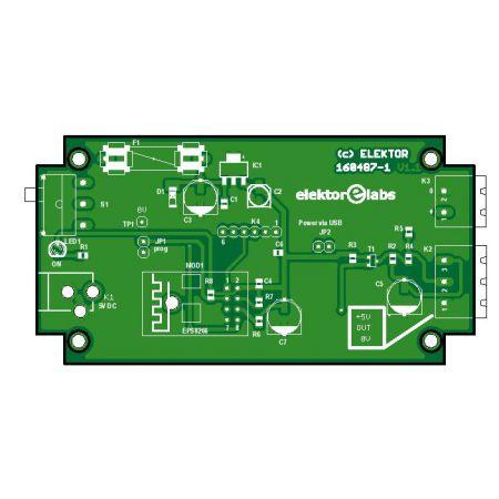 ESP8266 RGB LED server - bare PCB (160487-1)