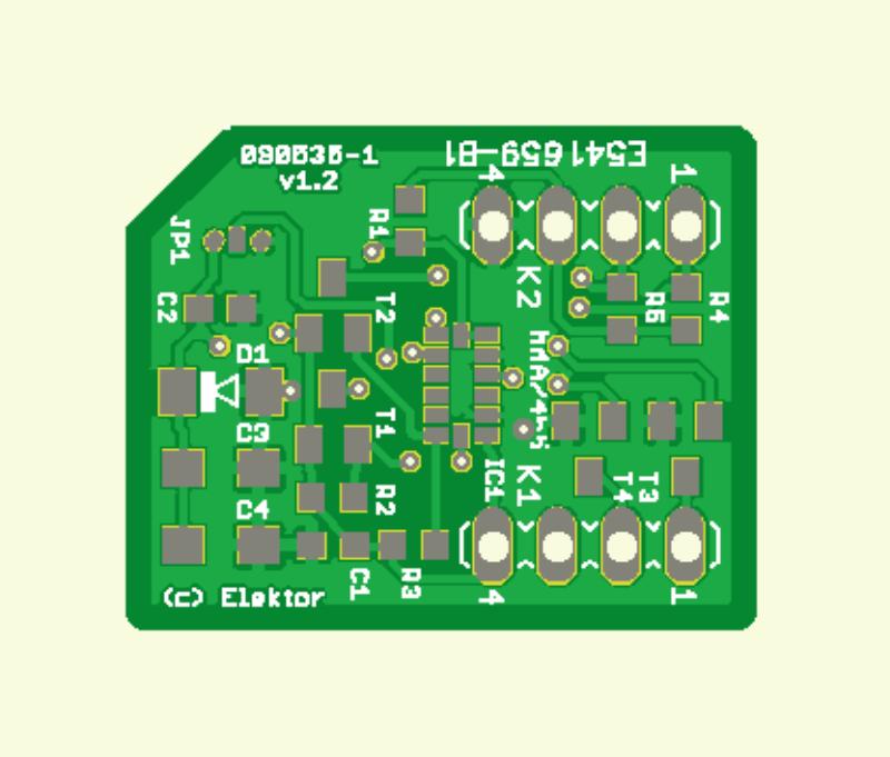 Beschleunigungs-Sensor geDIPt (Platine)