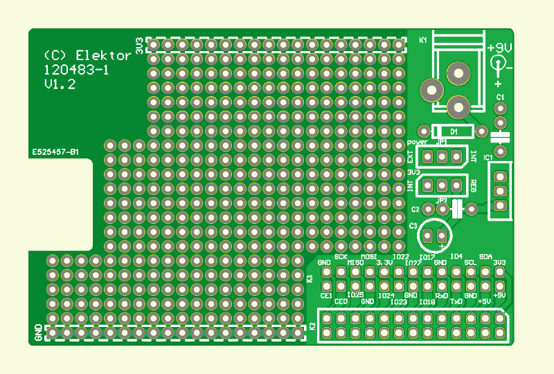 Prototyping-Board für Raspberry Pi