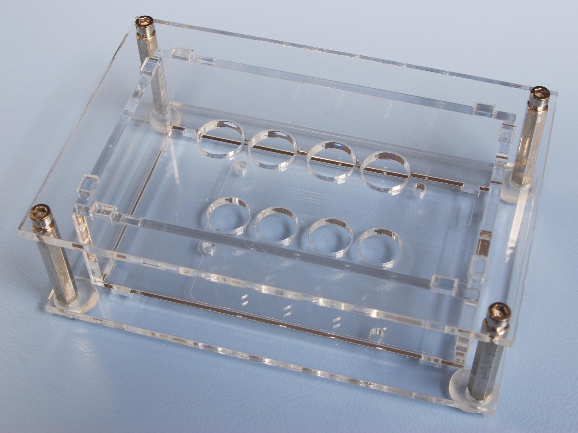Acrylglas-Gehäuse für 'VFD-Shield für Arduino' (150064-72)