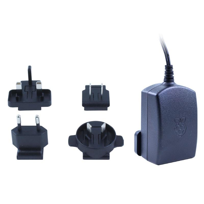 Offizielles Micro-USB-Netzteil für Raspberry Pi (schwarz)