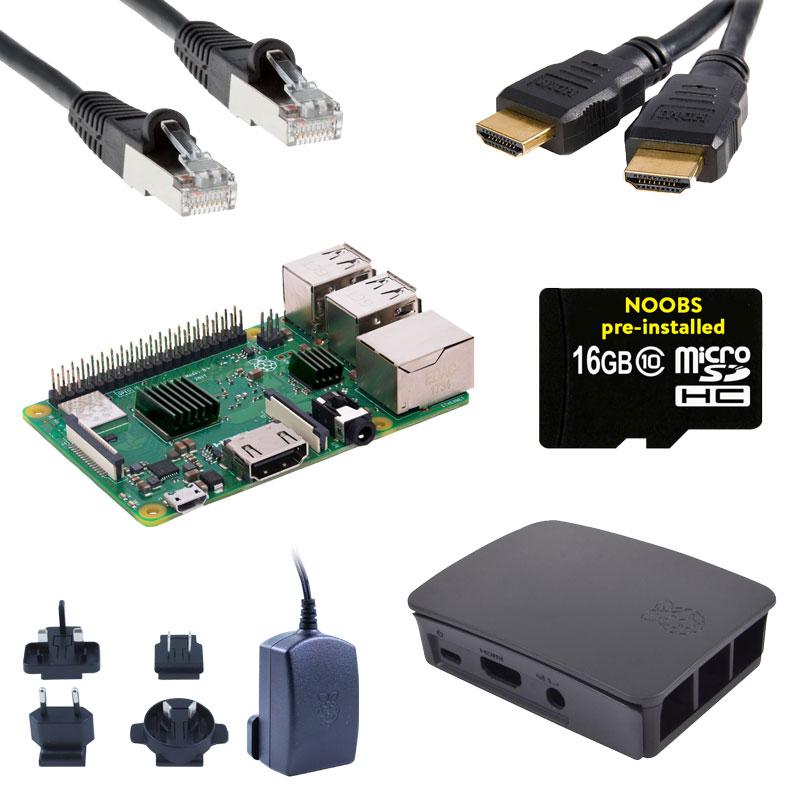 Raspberry Pi 3 B+ Starterkit + GRATIS RPi-Kompilation