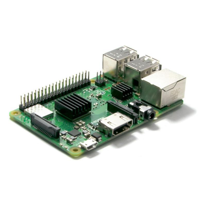 Raspberry Pi 3 B+ (mit vormontierten Kühlkörpern)