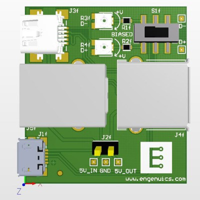 USB breakout board for experimenting with USB